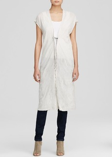 Eileen Fisher Tie Front Long Vest - The Fisher Project