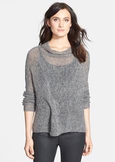 Eileen Fisher Tuck Detail Drape Neck Sweater