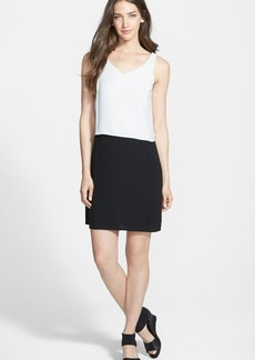 Eileen Fisher Two-Tone Silk Shift Dress (Online Only)