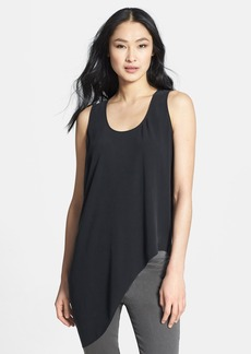Eileen Fisher U-Neck Drape Side Silk Shell