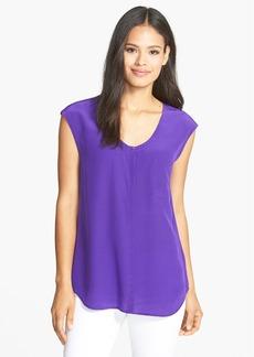 Eileen Fisher U-Neck Long Silk Shirt