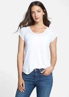 Eileen Fisher U-Neck Mesh Back Top