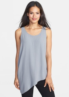 Eileen Fisher U-Neck Side Drape Silk Shell (Regular & Petite)
