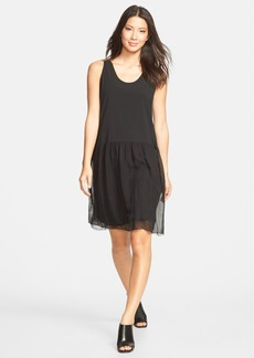 Eileen Fisher U-Neck Silk Chiffon Tank Dress