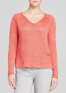 Eileen Fisher V Neck Box Top