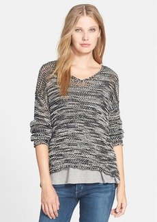 Eileen Fisher V-Neck Boxy Sweater (Regular & Petite)