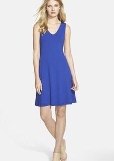 Eileen Fisher V-Neck Jersey Fit & Flare Dress (Regular & Petite) (Online Only)