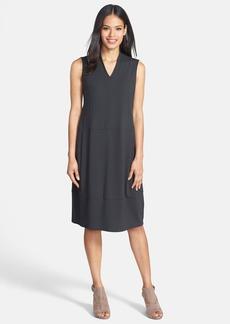 Eileen Fisher V-Neck Jersey Lantern Dress