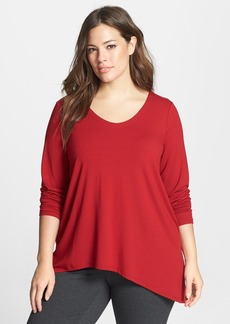 Eileen Fisher V-Neck Jersey Top (Plus Size) (Online Only)