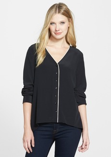 Eileen Fisher V-Neck Silk Shirt