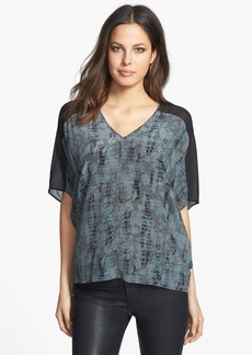 Eileen Fisher V-Neck Slouchy Silk Top