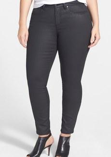 Eileen Fisher Waxed Skinny Jeans (Black) (Plus Size)