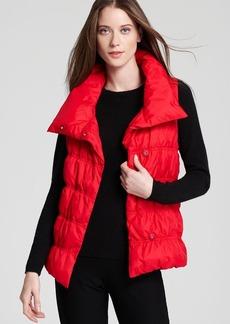 Eileen Fisher Weather Resistant High Collar Down Vest