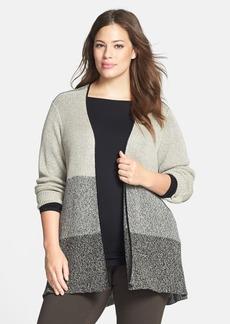 Eileen Fisher Wool & Linen Cardigan (Plus Size)