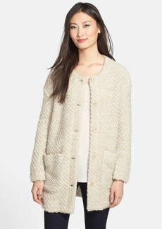 Eileen Fisher Wool Blend Sweater Jacket (Regular & Petite)