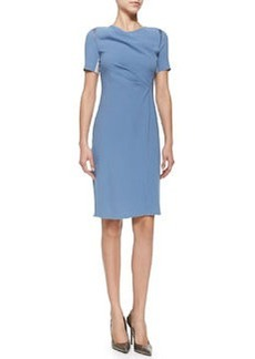 Amymarie Short-Sleeve Dress W/ Side Pleat   Amymarie Short-Sleeve Dress W/ Side Pleat