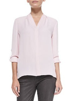 Anabella Long-Sleeve Silk Blouse   Anabella Long-Sleeve Silk Blouse