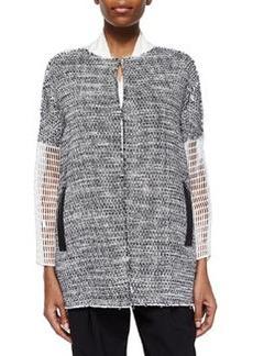 Anabelle Coat W/ Mesh Sleeves   Anabelle Coat W/ Mesh Sleeves