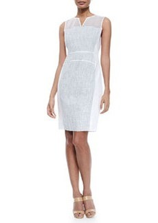 Anya Sleeveless Whitened Tweed Dress   Anya Sleeveless Whitened Tweed Dress
