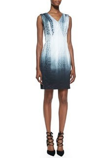 Arvis Sleeveless Python-Print Dress   Arvis Sleeveless Python-Print Dress
