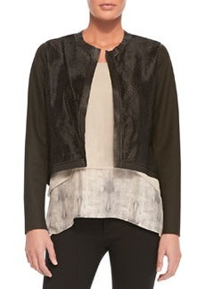 Astor Cropped Perforated Jacket   Astor Cropped Perforated Jacket