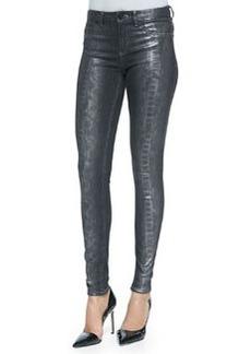 Azella Foiled Snake-Print Jeans   Azella Foiled Snake-Print Jeans