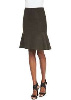 Bonnie Tweed Flared-Hem Skirt   Bonnie Tweed Flared-Hem Skirt