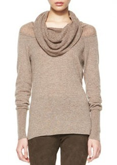 Cashmere Aurora Draped-Neck Sweater   Cashmere Aurora Draped-Neck Sweater