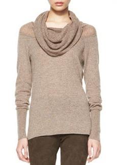 Cashmere Aurora Draped-Neck Sweater   Cashmere Aurora Draped-Neck Sweater