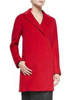 Dalia Double-Breast Hidden-Placket Coat   Dalia Double-Breast Hidden-Placket Coat