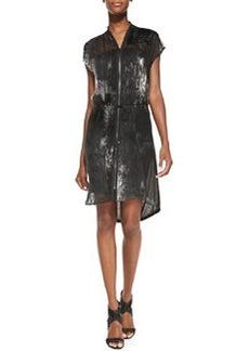 Dallas Dolman-Sleeve Burnout-Pattern Dress   Dallas Dolman-Sleeve Burnout-Pattern Dress
