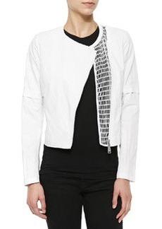 Della Cropped Zip Jacket   Della Cropped Zip Jacket