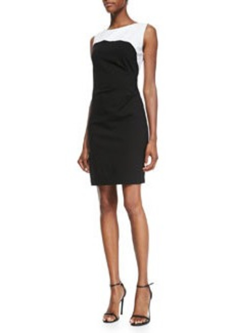 Dilana Sleeveless Contrast Sheath Dress   Dilana Sleeveless Contrast Sheath Dress