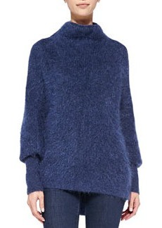 Dorene Mock-Neck Cape-Sleeve Sweater   Dorene Mock-Neck Cape-Sleeve Sweater