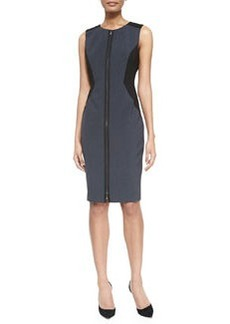 Dorothy Zip-Front Colorblock Sheath Dress   Dorothy Zip-Front Colorblock Sheath Dress