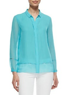 Dylan Pintucked Silk Blouse   Dylan Pintucked Silk Blouse