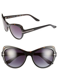 Elie Tahari 54mm Cat Eye Polarized Sunglasses