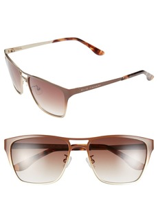 Elie Tahari 56mm Aviator Sunglasses
