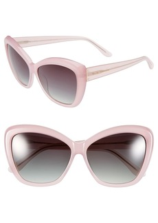 Elie Tahari 60mm Cat Eye Sunglasses