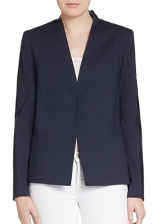Elie Tahari Abby Perforated Leather-Paneled Jacket
