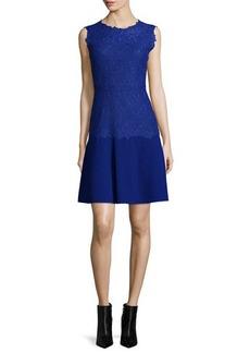 Elie Tahari Adira Sleeveless Lace-Top Dress  Adira Sleeveless Lace-Top Dress