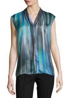 Elie Tahari Adira Sleeveless Striped Blouse  Adira Sleeveless Striped Blouse