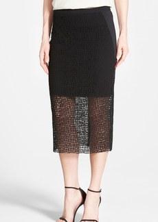 Elie Tahari 'Adora' Lace Midi Skirt