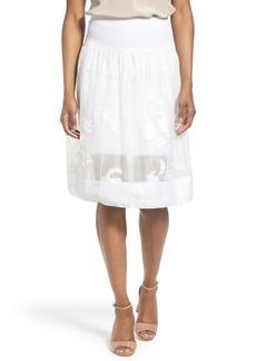 Elie Tahari 'Adrina' Floral Jacquard A-Line Skirt