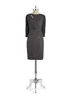 ELIE TAHARI Agustine Faux Suede Shift Dress