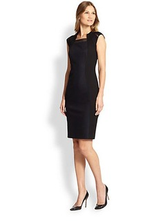 Elie Tahari Aiden Cap Sleeve Sheath