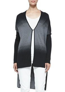 Elie Tahari Alandrea Ombre High-Low Sweater