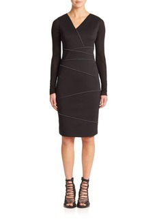 Elie Tahari Alexia Seam-Detail Dress