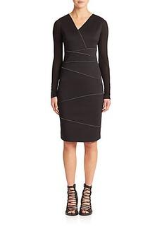 Elie Tahari Alexia Seam-Detail Dress