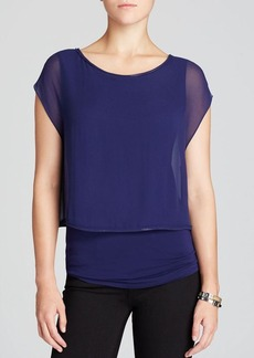 Elie Tahari Alexis Chain Trim Top